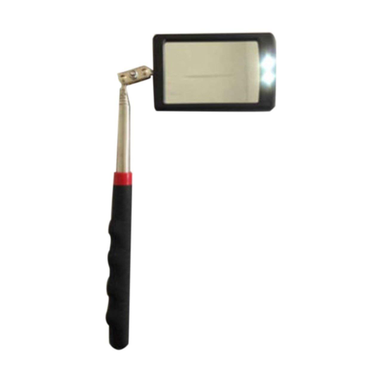 Espejo de inspecci/ón telesc/ópico con LED 360 Giratorio para visualizaci/ón Adicional Accesorios /útiles para veh/ículos telesc/ópicos Negro Jasnyfall