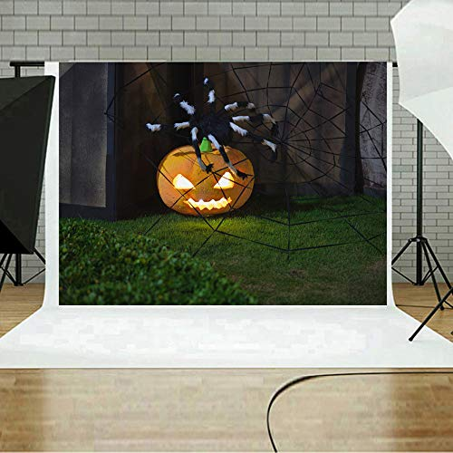 MOKO-PP Halloween Backdrops Pumpkin Vinyl 5x3FT Lantern Background Photography Studio A(A)