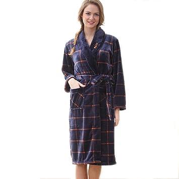 Batas de Lana para Mujer Bata de Felpa Suave Suave para Mujer Bata de baño Pijama cálido Batas de Felpa de Las Mujeres (tamaño : L): Amazon.es: Hogar