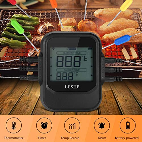 LESHP Meat Thermometer,Bpro-US AM8194 Meat Thermometer,Bpro-US AM819400 Wireless Remote Digital Cooking Food Meat Instant Read Thermometer with Dual Probe for Smoker Grill BBQ Thermometer for Kitchen