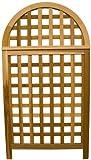 Arboria Andover Arch Privacy Screen Cedar Wood Over 5.5 Ft High With Lattice Design