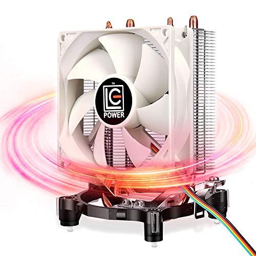 CPU Heatsink Cooler - 2 Direct Contact Copper Heat Pipes, Super Quiet, Well Assembly AMD & Intel CPU Cooler, Small CPU Tower Fan for Intel LGA 775/1150/1151/1155/1156 AMD AM2/AM3/AM4/FM1/FM2 Sockets
