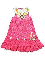 Baby Sara - Little Girls's Sleeveless Floral Burnout Dress, Pink 24671-6X