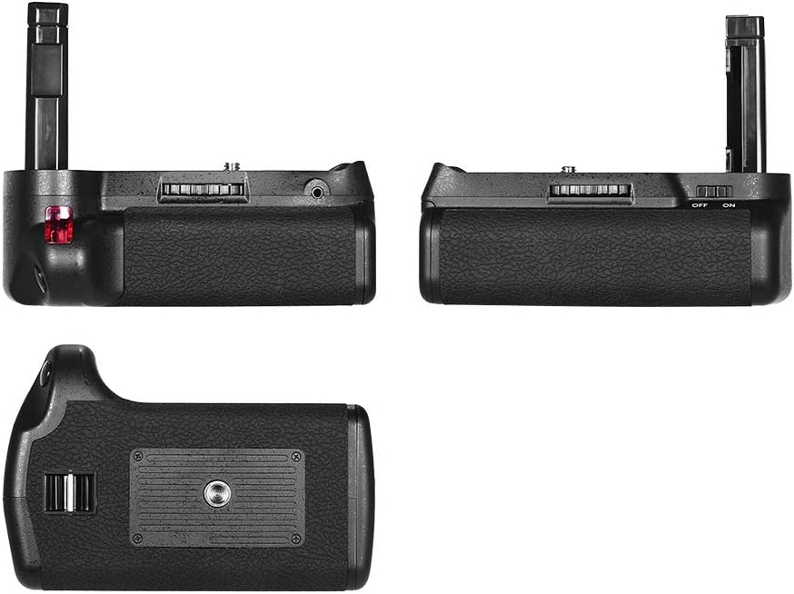 RuleaxA Vertical Battery Grip Holder for Nikon D5300 D3300 D3200 D3100 DSLR Camera EN-EL 14 Battery Powered with IR Remote Control