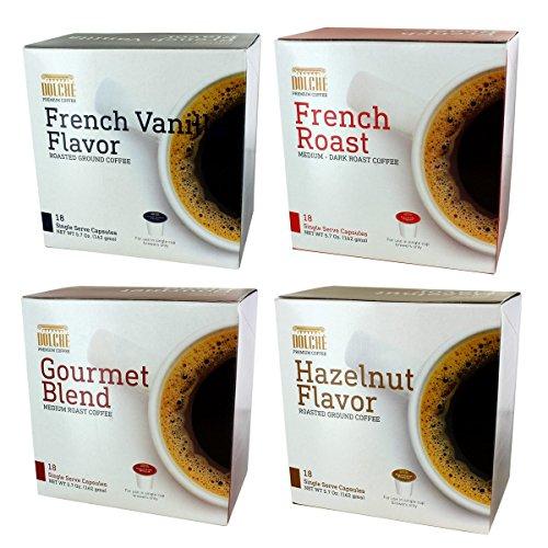 K Cup Coffee Variety French, Gourmet, Hazelnut, Vanilla - 72 count