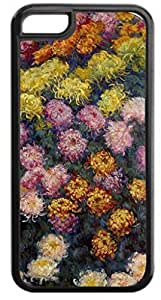Claude Monet's Flower Bed- Case for the Apple Iphone 5C- Hard Black Plastic Snap On Case with Soft Black Rubber Lining wangjiang maoyi by lolosakes