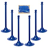 """Product review for Mr. Chain 71006-6 Blue Plastic 2"""" Stanchion Kit with 50' of 2"""" Chain (Pack of 6)"""