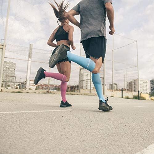 Cep Womens Pro+run  Compression Running Socks 2.0 Hawaii Blue// Pink Size IlI New