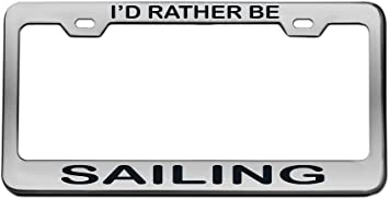 Customizable CHROME Metal Arial High Quality License Plate Frame