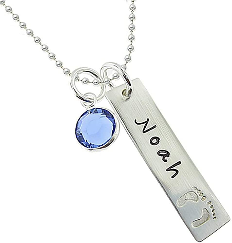 Personalized Round Photo Necklace Engraved Pendant Memorable Gift for Mother Sterling Silver Necklace