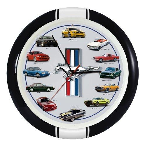 mustang car clock - 9