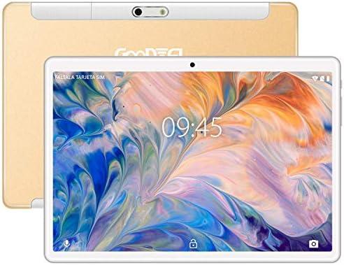 Tablet 10 Pollici GOODTEL G3 con 4 GB di RAM + 64 GB di ROM, Tablets Android WiFi | Doppia SIM | GPS | Tipo-C | Bluetooth 4.0 | Doppia Fotocamera (5 MP + 8 MP) | Doppi Altoparlanti – Oro