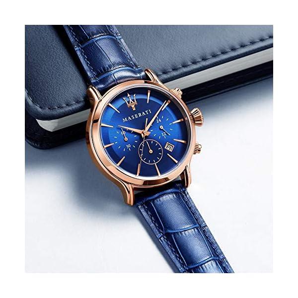 Orologio da uomo, Collezione Epoca, movimento al quarzo, cronografo, in acciaio, PVD oro rosa e cuoio - R8871618007 6