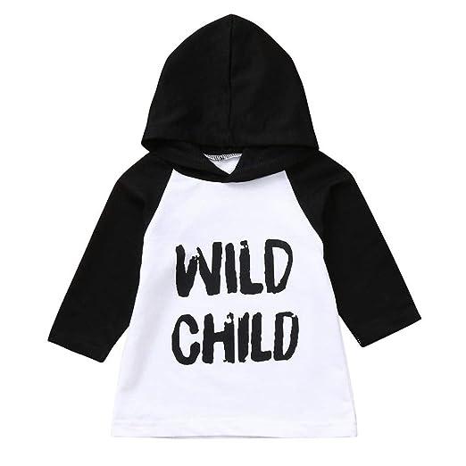 05e15a501 Amazon.com  Winsummer Baby Boys Girls Wild Child Letter Print Long ...