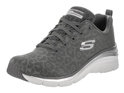 Skechers Frauen-Mode-Fit Checking In Sneaker, Holzkohle