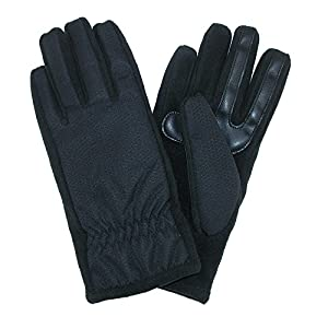 Isotoner Women's Nylon SmarTouch Winter Texting Gloves, Large / Xlarge, Black