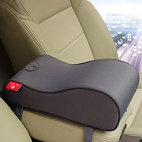 ChiTronic Memoryform Car Seat Cushions Armrest Center Consoles Head Neck Rest Waist Back Cushion Pillow Pad for Car Motors Auto Vehicl (Gray)