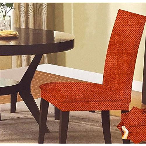 SALLY TEXTILES Monica Chair Cover, Orange