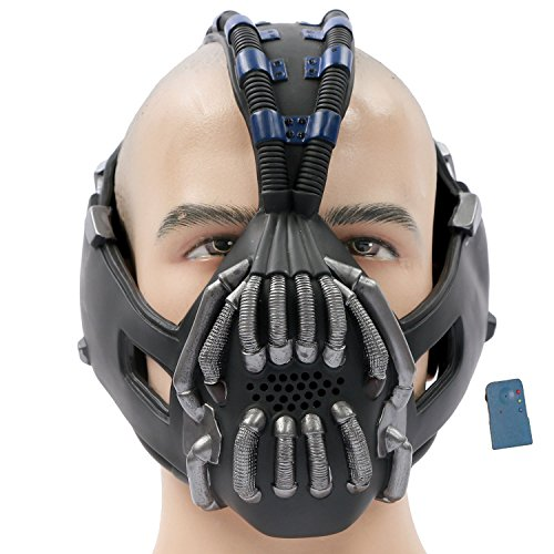 [TDKR Batman Bane Mask Replica with Voice Changer Newest Version for Halloween Costume Cosplay 2013] (Voice Changer Mask)