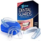 Mouth Guard for Grinding Teeth - Night Guard for Clenching - TMJ Mouthpiece For Bruxism and Teeth Pain Relief - Pack of 3 Dental Guards + Anti-Bacterial Case - Includes Molding and Fitting Instruction