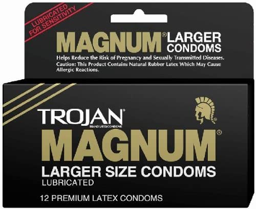 Trojan Magnum Premium Large Lubricated Latex Condoms Bulk Packaging - Condoms by Trojan