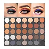 35 eyeshadow palette - VASLON Professional Waterproof Matte Shimmer 35 Colors Highly Pigmented Palette Eyeshadow