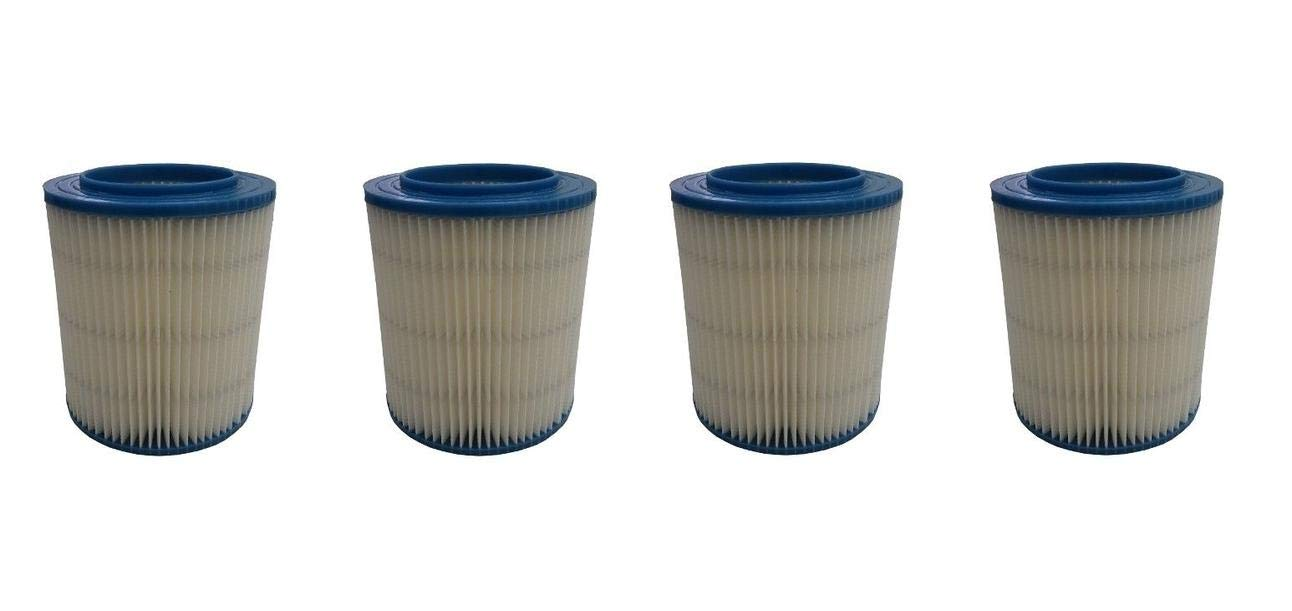 New Vacuum Pars Wet/Dry Filter Replacement for Craftsman Shop Vac 5,6,9,12,16 Gallon 4 Pack