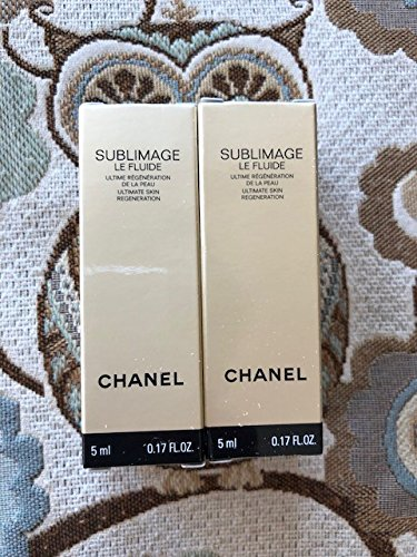 CHANE'L Sublimage Le Fluide Ultimate Skin Regeneration NIB Qty:2 0.17oz/5ml Each