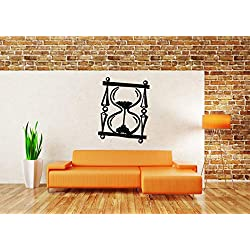 Vinyl Sticker Hourglass Sand Clock Stands Timer Time Watch Minute Hour Second Mural Decal Wall Art Decor SA2403