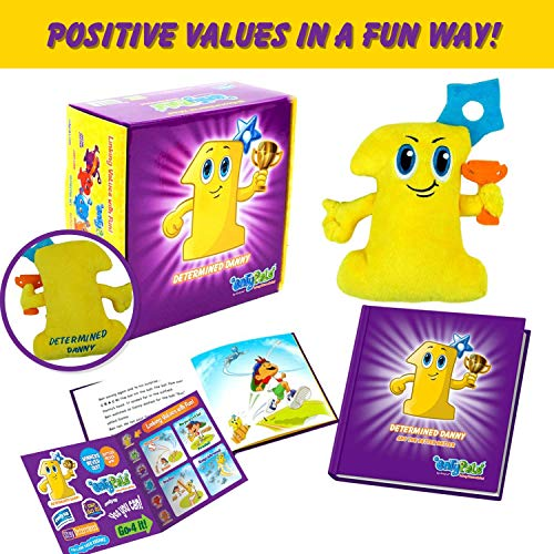 Kids Learning Toys that inspires the Value of Determination in a Fun way. Includes Plush, Children Book & Stickers in Gift Box. Educational resource & Kindergarten learning game for toddlers.]()
