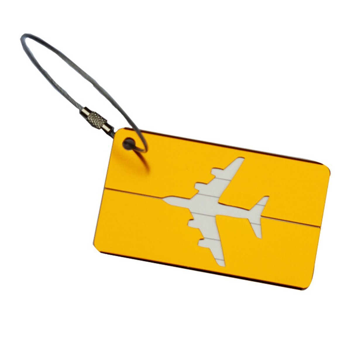 WINOMO Bagages valise de Tags Tags 7 pcs motif avion en aluminium