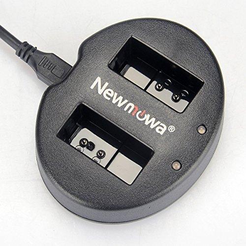 Newmowa Dual USB Charger for Nikon EN-EL20 and Nikon 1J1, 1S1,COOLPIX A, 1J3 , Nikon 1 AW1