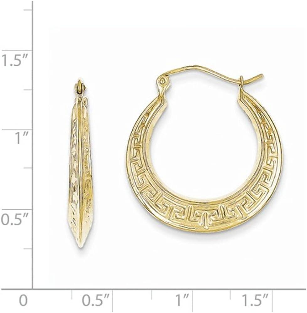 Simple Hoop earrings Gold Earrings Ladies gold Greek Key hoop Earrings 10k gold Hoop earrings