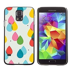 Be Good Phone Accessory // Dura Cáscara cubierta Protectora Caso Carcasa Funda de Protección para Samsung Galaxy S5 SM-G900 // Rain Pink Yellow Polka Dot Summer
