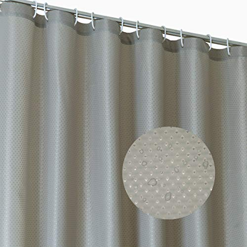 Metal Diamond Vinyl Liner - Dosly home Mildew Resistant Fabric Shower Curtain Liner Or Shower Curtain for Bathroom,Diamond Patterned,Washable & Waterproof,Weighted Magnet,Hotel Quality,71Wx72L Inch