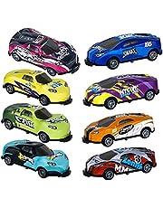 8 st stunt billeksak, hoppande stunt bil 360° roterande stunt bilar mini tecknad dragrygg bil leksak pedagogisk modell bil leksak för småbarn för barn pojkar