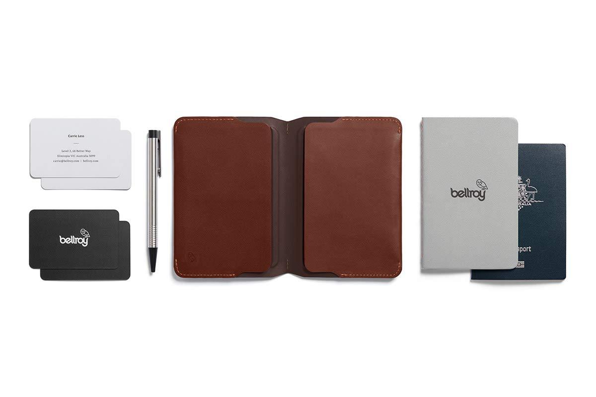 Cartera de piel Bellroy para hombre Notebook Cover Mini, Cocoa: Amazon.es: Oficina y papelería