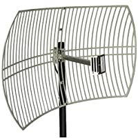 Altelix 2.4GHz 24dB WiFi Grid Antenna Directional Parabolic 24 dBi N Male Connector (2.4 GHz Outdoor Antenna)