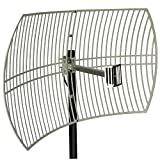 Altelix 2.4GHz 24dBi Directional Grid Parabolic Antenna N Female Connector Weather Resistant (2.4 GHz Point to Point)