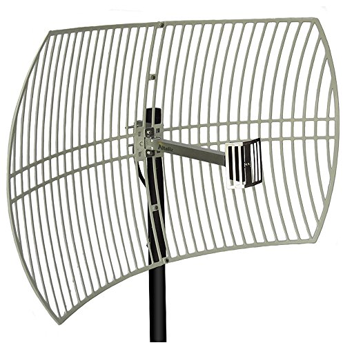 Altelix 2.4GHz 24dBi Directional Grid Parabolic Antenna N Female Connector Weather Resistant (2.4 GHz Point to Point) by Altelix