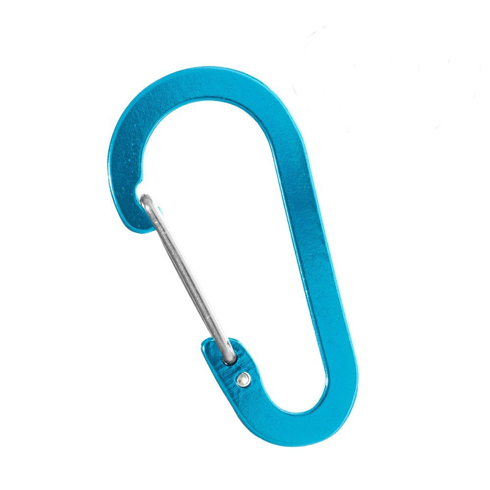PARACORD PLANET Sky Blue Aluminum Carabiner - Available in 5, 10, and 20 Packs