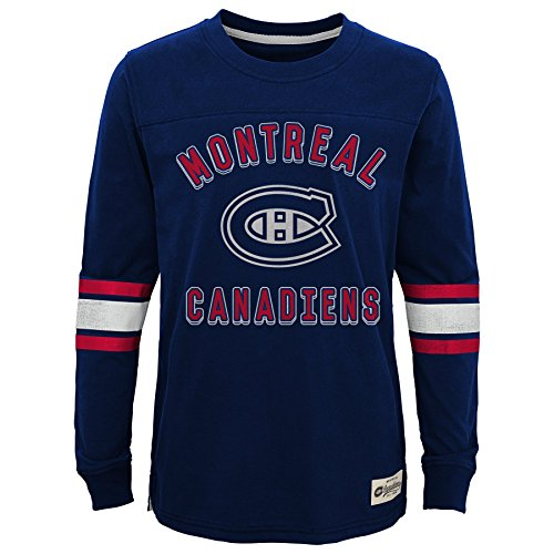 NHL Montreal Canadiens Youth Boys Historical Crew, Small(8), True Navy (Montreal Hockey Nhl)