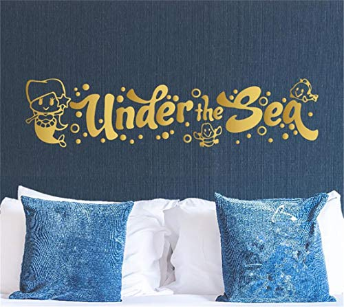 chkudn Wall Decal Sticker Art Mural Home Decor Quote Under The sea for playroom Nursery Kids Room