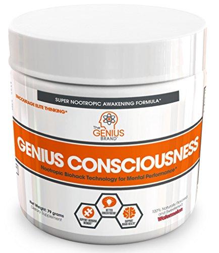 Genius Consciousness   Super Nootropic Brain Booster Supplement   Enhance Focus  Boost Concentration   Improve Memory   Mind Enhancement With Alpha Gpc   Lions Mane Mushroom For Neuro Energy   Iq