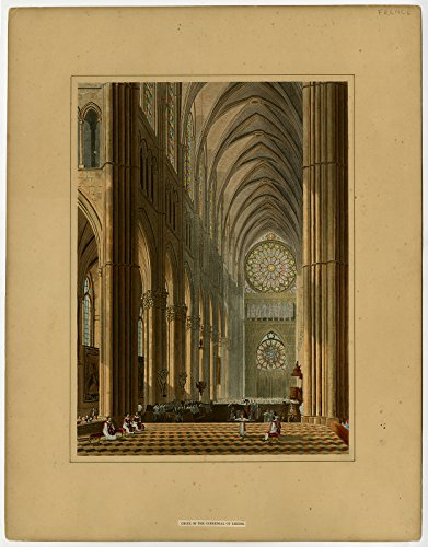 Antique Print-ABBEY OF SAINT-REMI-CATHEDRAL-REIMS-STAINED GLASS-Wild-c. 1823