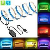 MINGER MusicPro RGB LED Strip Lights, Multi Color TV Backlight Bias Lighting Kit
