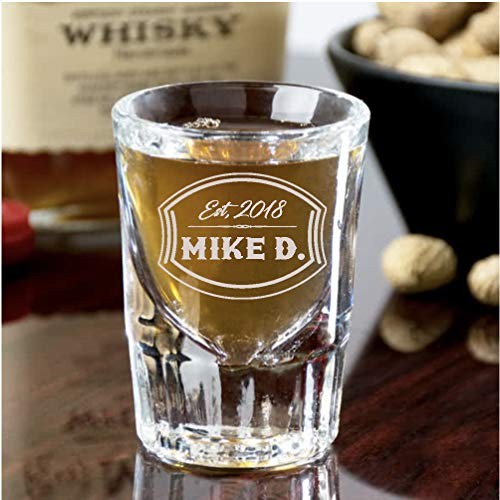 Personalized Whiskey Shot Glasses | Custom Engraved (set of 4)