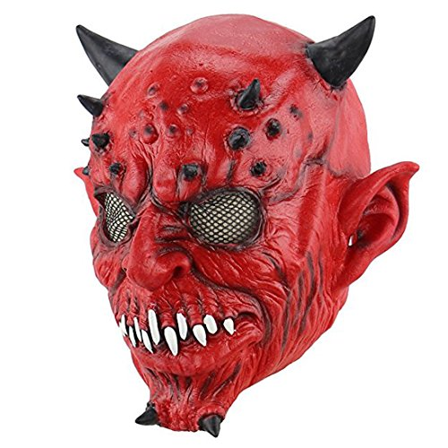 Hophen Creepy Halloween Cosplay Costume Mask for Adults Party Favors or Huanted House Decoration Props -