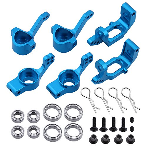 Hobbypark 102210 102010 102211 102011 102212 102012 Aluminum Steering Knuckle Kit Hub Carrier Upgrade Parts for RC Redcat Volcano EPX HSP 10 Ep Sunfire Buggy