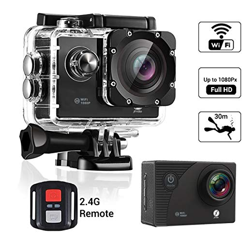 Xmate Shot Sports Action Camera (Black) |16MP Camera |1080P Full HD Video Recording | Water-Resistant | Supports Micro SD Card up to 32G (Revived)